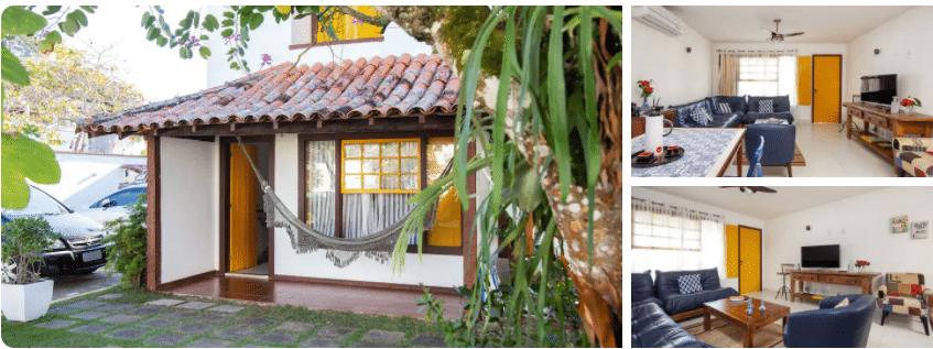 Fachada de casa com rede de Casas com piscina para alugar em Búzios