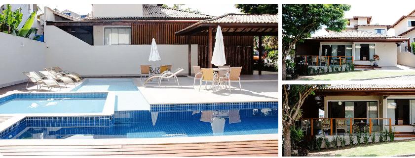 Piscina ampla em casa com piscina para alugar em Búzios