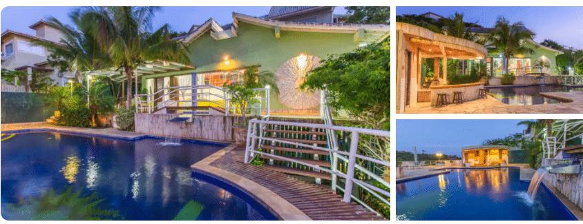 Piscina de casa com piscina para alugar em Búzios