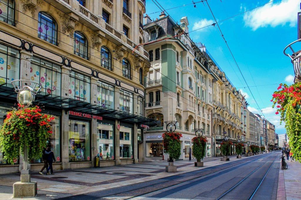 principal rua de compras dica do que fazer em Genebra