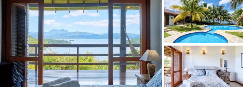 Casa com vista para o mar em Paraty