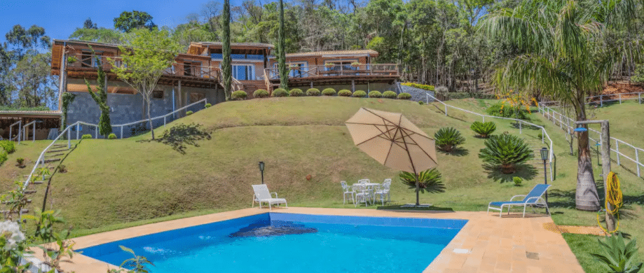 Piscina de sítio para alugar no interior de São Paulo