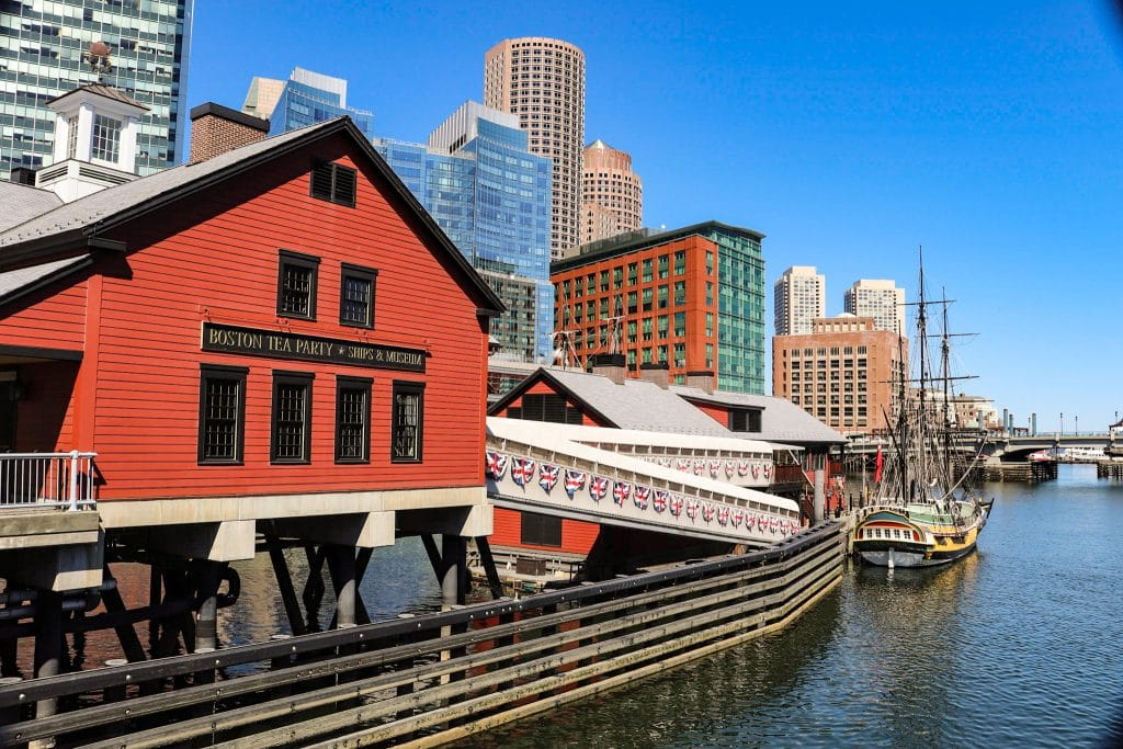 Fachada do Boston TEa Party Ships & Museum