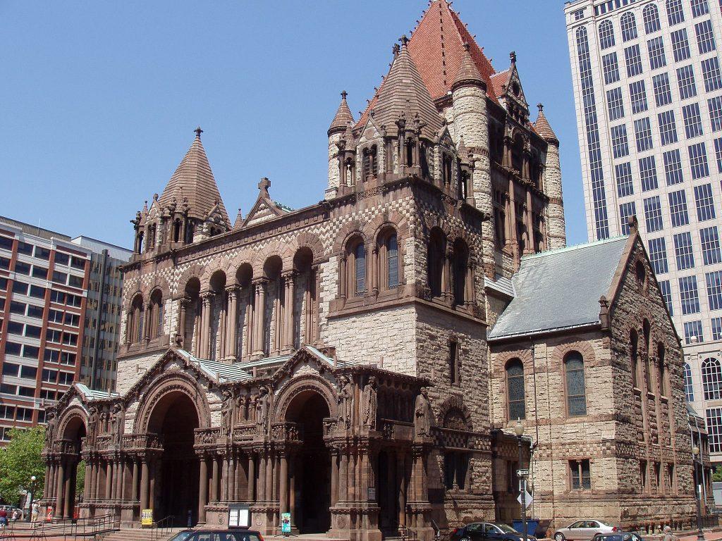 Fachada de igreja Trinity de Boston