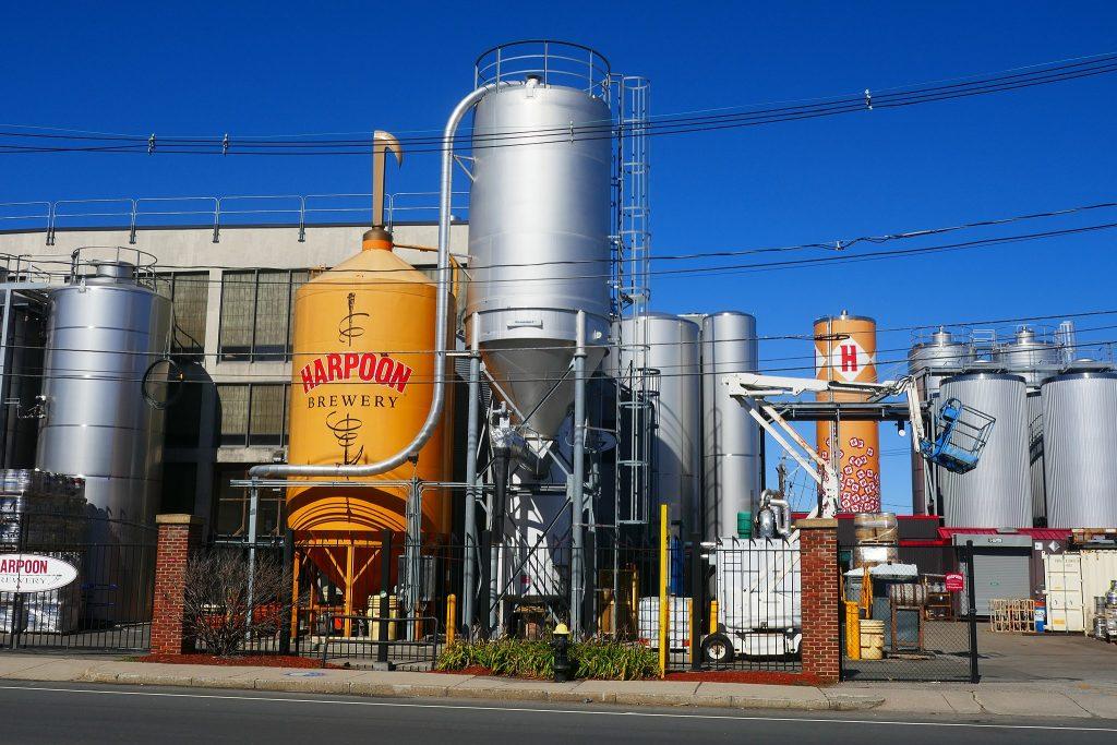 Fachada de cervejaria em Boston