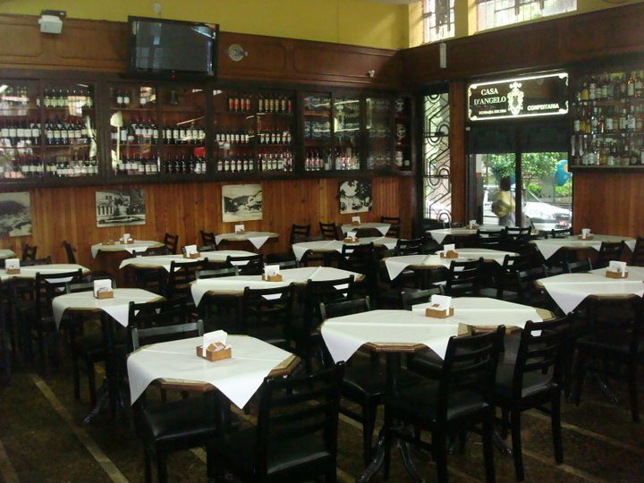 Salão do restaurante d'angelo