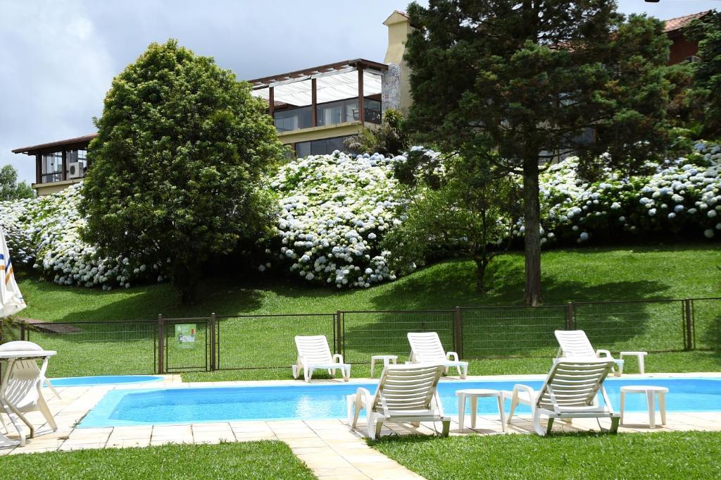 Piscina de hotel em Gramado